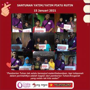 Program Kolaborasi : Santunan Rutin Anak Yatim/Yatim Piatu